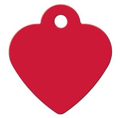 Chapa Coração Grande Vermelho com gravação