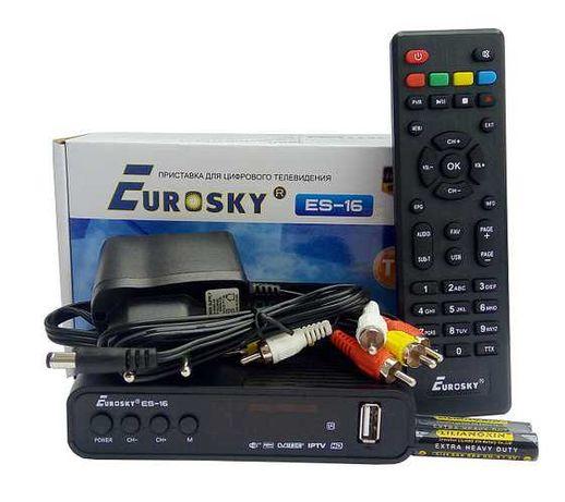 Тюнер Т2 Eurosky ES-16 (цифровой эфирный приёмник Т2)