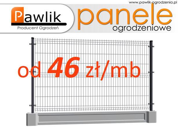 Ogrodzenie Panelowe TBU 133cm z podmurówka panele ogrodzeniowe