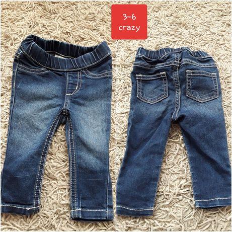 Spodnie dzinsowe 3-6 primark 62 68 next jeansowe