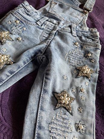 Детский комбинезон джинсы для девочки