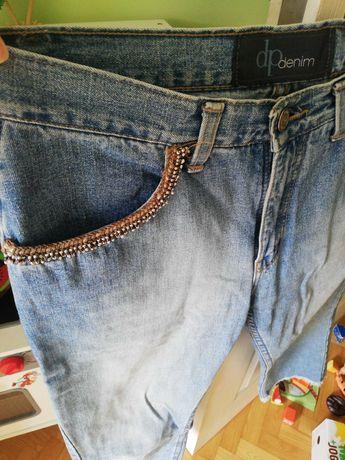 Spodnie jeansy Dorothy Perkins Zara 38 10 S M ze zdobieniem 7/8
