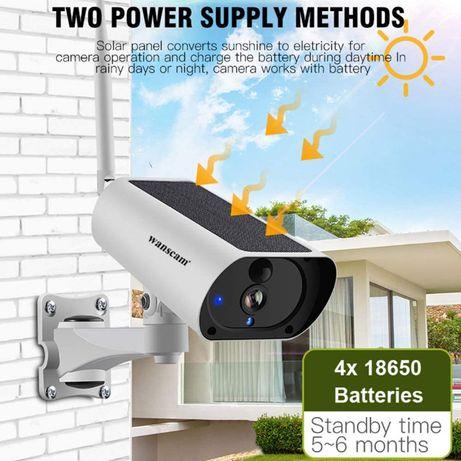 Camera Wanscam c/ Painel Solar + Bateria Sem fios WIFI Autónoma [NOVO