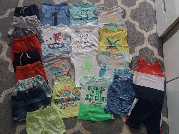 Paczka, zestaw ubranka letnie, koszulki, spodenki H&M,F&F...