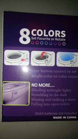 Подсветка для туалета унитаза, ночник в туалет LED