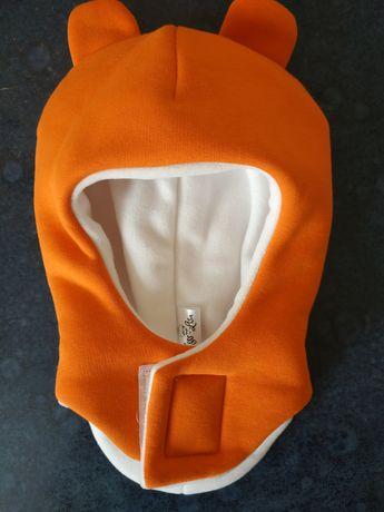 Шапочка с ушками осень-зима, шапка-шлем