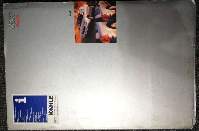 Oryginalne książki marketingowe / salonowe do Audi A3