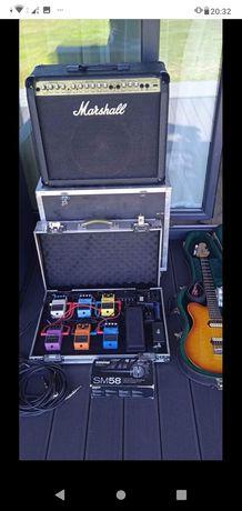 Gitara, wzmacniacz, efekty, mikrofon