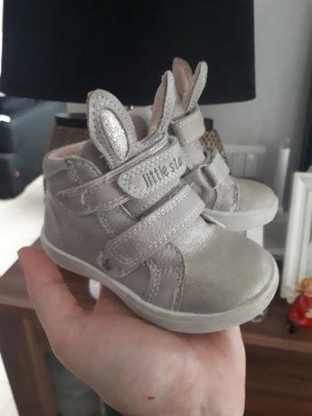Pólbuty buty króliczki zajace szare 20 buciki
