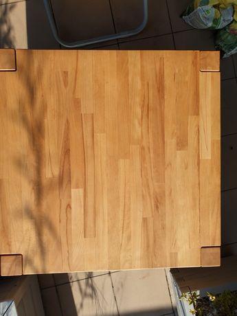 Stolik kawowy 80x80, lite drewno