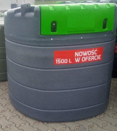 Dwupłaszczowy zbiornik do paliwa ON Diesel 1000, 1500 L
