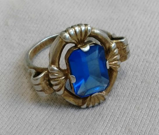 Кольцо перстень каблучка СССР серебро *875