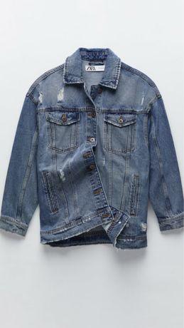 Zara jeansowa kurtka katana M