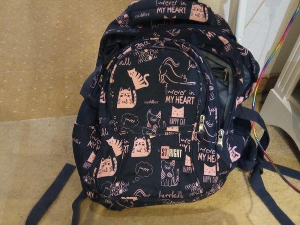 Plecak szkolny w kotki