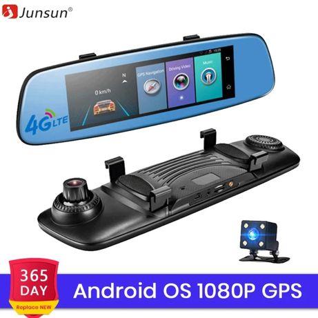 """Junsun A880 Авто-ный видеорегистратор навигатор 8"""", ,Android 5.1 4G"""