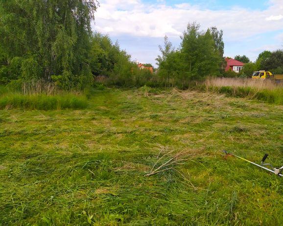 Koszenie trawników i nieużytków, zakupionych działek budowlanych