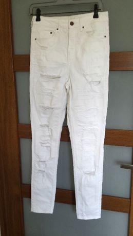 spodnie dziury skinny 26