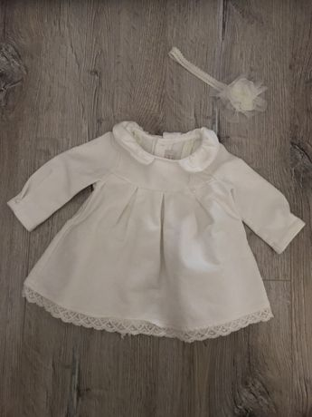 Sukieneczka MAYORAL do chrztu+opaska