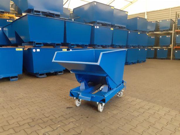 Pojemnik metalowy do wózka kontener wywrotka koleba 0,6m3 premium