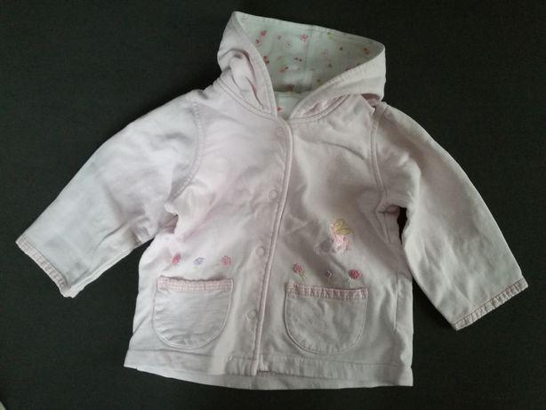 Bluza kurtka 74 cm wdzianko różowa pastelowy Marks&Spencer z kapturem