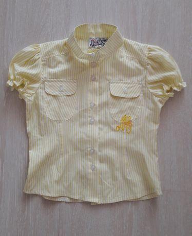 Блузка, рубашка с коротким рукавом для школьницы