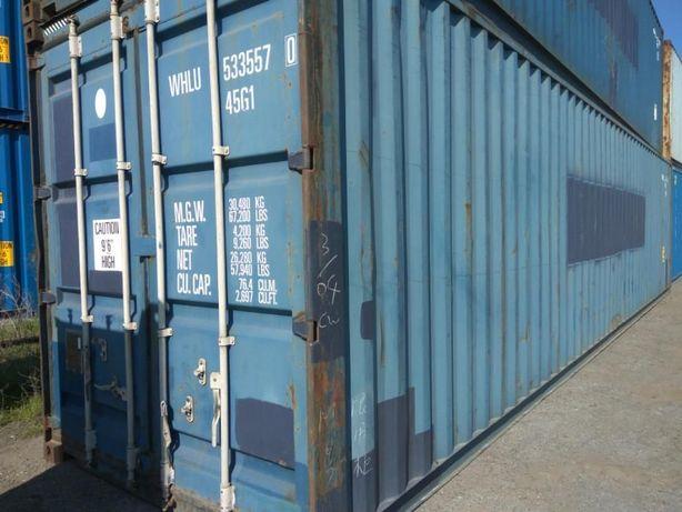 Контейнеры морские 40 футов (д.12 ш. 2.44 в. 2.9м) Бесплатная погрузка