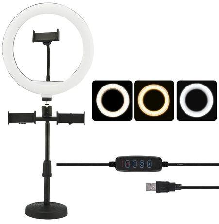 Кільцева лампа 16 см + стійка + пульт. Кольцевая светодиодная led