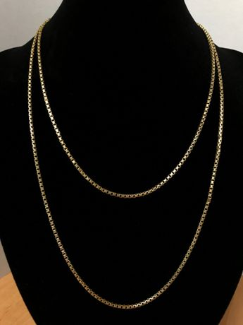 "Piękny, złoty łańcuch p. 750 ""kostka"" !!!POLECAM!!!"