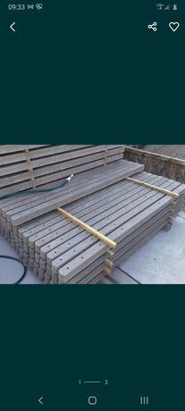 Słupki do siatki metalowe i betonowe
