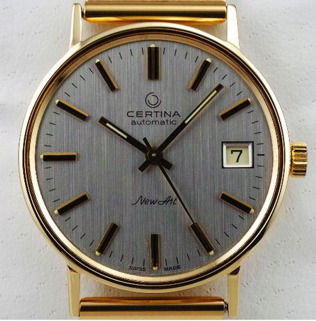 Złota CERTINA zegarek męski LITE ZŁOTO 14K 585 Automatic.