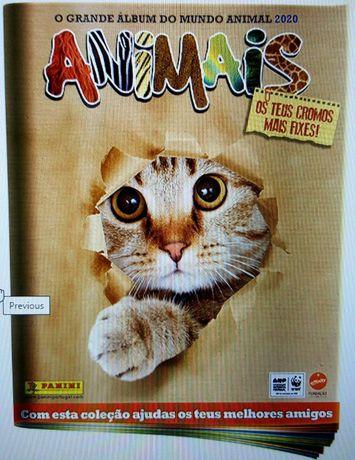 Colecção Panini Animais 2020 - O Grande Álbum do Mundo Animal
