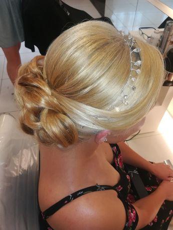 Ślubna ozdoba do włosów z krysztalkami