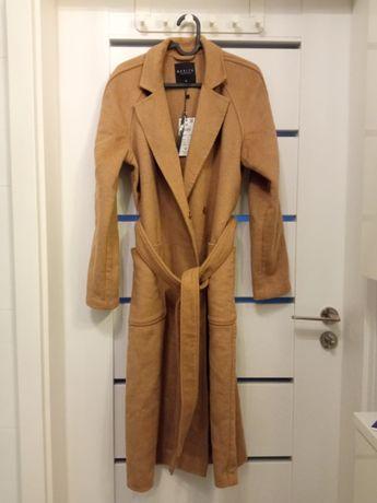 Płaszcz z wełną Mohito