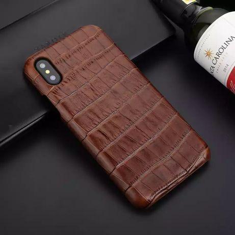 Чехол-накладка из натуральной кожи для iPhone X XS 11 Pro Max XR 7 8 P