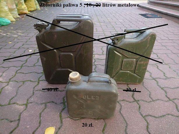Zbiornik Bańka Karnister Na Paliwo Olej Rope Metalowy 5 Litrów ! OKAZJ