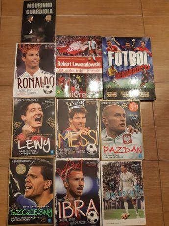 Książki piłkarskie - zestaw 10 szt.