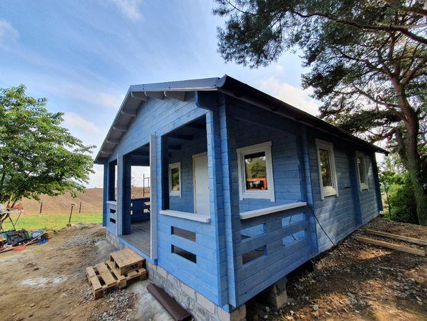 domek drewniany z bali PROMOCJA!! letniskowy/całoroczny MADERA