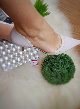 Buty damskie z naturalnej skóry zamszowej,wloskiej firmy,,viaroma,,37