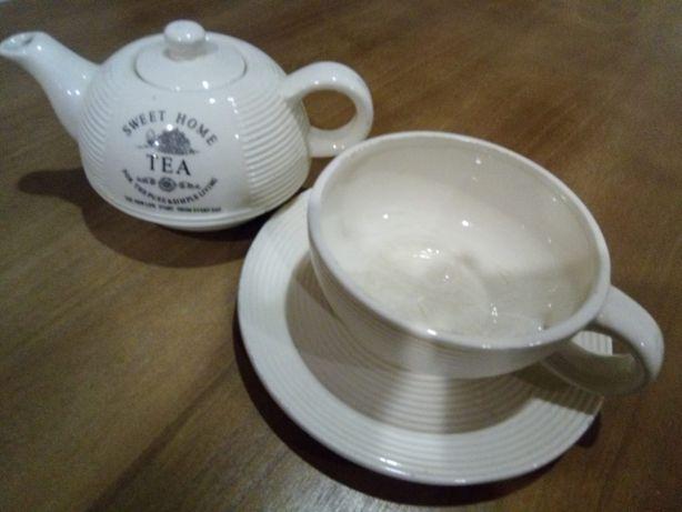 Conjunto Chá - Chávena e Bule em cerâmica