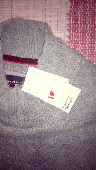 свитер новый( шерсть80%, шелк15%, кашемир5%), XXL-56р, Германия