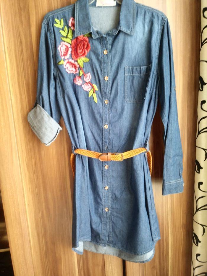 Sukienka tunika jeansowa Gruczno - image 1