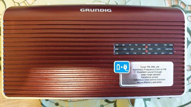 Grundig GRN1640 Music60 LW Radio RED