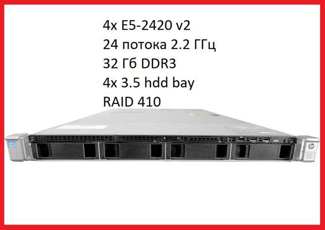 Сервер HP DL360e g8 gen8 1U 2x E5-2420 v2 24-потока! 32Gb! из Германи