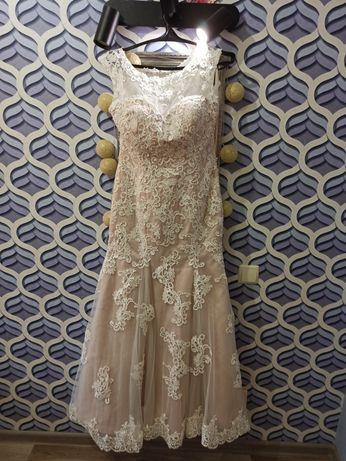 Свадебное платье рыбка 48-50р.