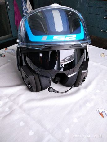 Kask motocyklowy szczekowy LS2 F900 rozmiar S 55-56cm