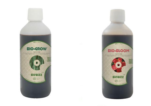 Nutrientes líquidos orgânicos para fase de crescimento e floração