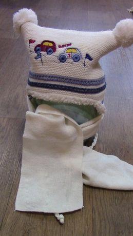 Зимний комплект 1-2 года шапка и шарф