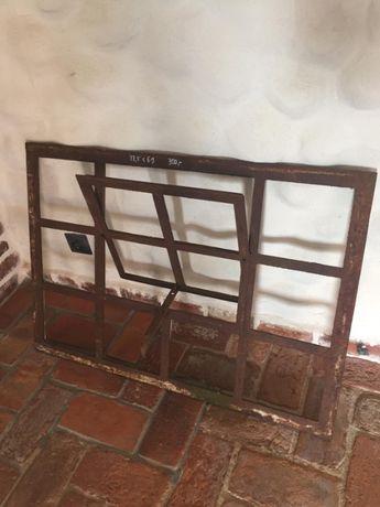 Okno żeliwne, stare okna żeliwne 98,5cm x 69cm