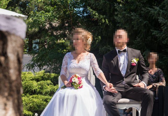 Suknia ślubna koronka z tiulem