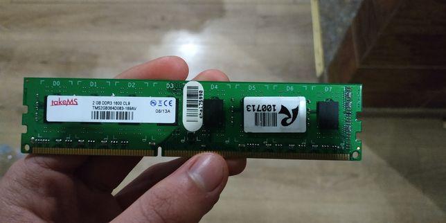 Оперативная память 2gb DDR3, 1600mhz от takeMS